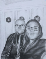 Gift, black & white, wife, commission, portraits,