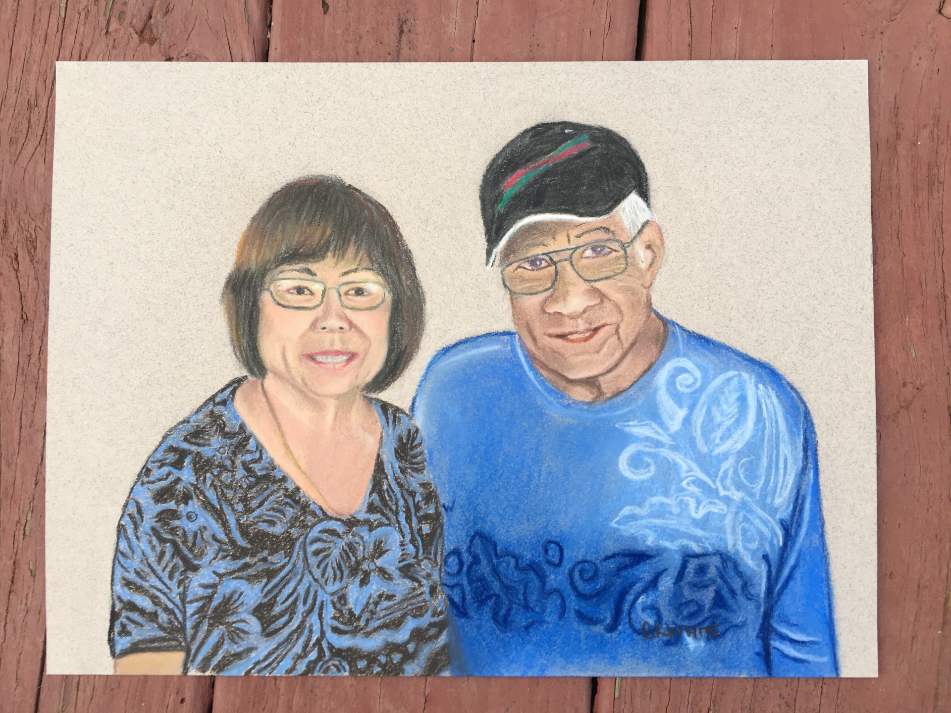 #gift, #family, #Hawaii, #pastel, #painting, #vaction,